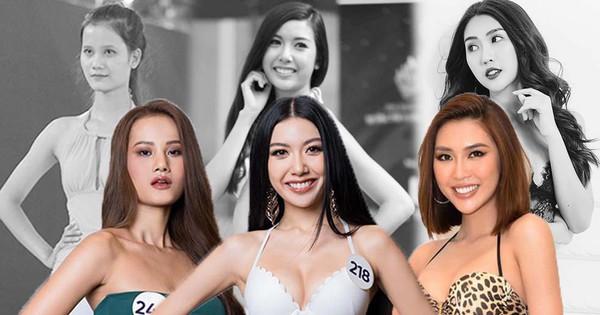 """Dàn thí sinh """"Hoa hậu Hoàn vũ Việt Nam 2019"""" lột xác thế nào so với thời thi show thực tế?"""