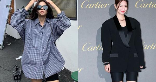 """Sao Hàn diện hot trend quần short bó chịt """"hiểm hóc"""": Jennie, Hyuna vẫn xuất sắc; Seulgi, Shin Min Ah lại lot top nguy hiểm"""