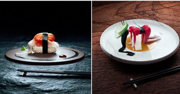 """Đang định ăn sushi thì thấy miếng thịt… uốn éo như tập yoga, nhìn """"chết khiếp"""" nhưng lại là một nghệ thuật ở Nhật"""