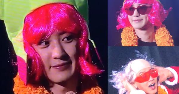 Chanyeol (EXO) tóc hồng môi đỏ chứng tỏ xinh trai làm dân tình khóc thét: ''Fan Thái Lan đã làm gì oppa của chúng tôi thế này?''
