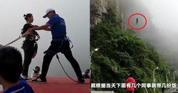 Đẳng cấp shipper: Nhảy bungee 300m từ vách núi để giao 200 suất ăn thay vì lái xe 30 phút