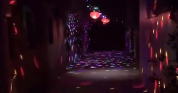 Khi độ chịu chơi ngày Tết đã lên đến tầm khu phố: Đèn nháy xanh đỏ dọc con ngõ, thêm tí nhạc là xôm như vũ trường