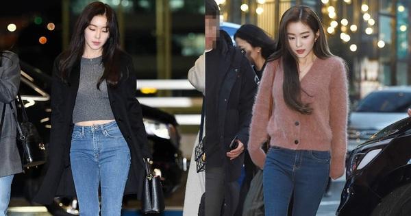 """Quần ống rộng trendy là thế nhưng Irene lại sủng ái quần skinny """"lỗi mốt"""""""