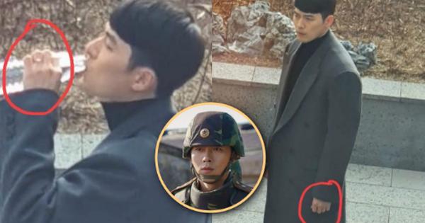 Phát hiện ''vật thể lạ'' trên ngón áp út của Hyun Bin ở hậu trường ''Crash Landing On You'': Anh đã cưới cô nào rồi ư?