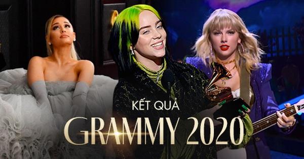 Kết quả Grammy 2020: Billie Eilish viết nên lịch sử, Taylor Swift, Ariana Grande và Lana Del Rey đồng loạt ''trắng tay'' đầy cay đắng!