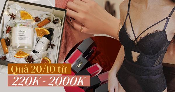 Gợi ý nhanh 10 món quà 20/10 từ 200k - 2 triệu đảm bảo xinh, xịn và vừa ý hội chị em