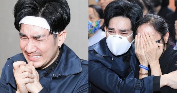 Quang Hà khóc nức nở trong tang lễ anh trai ruột, Lệ Quyên cùng nhiều nghệ sĩ xót thương