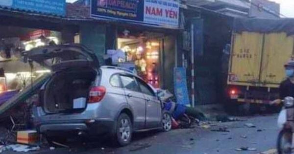2 ô tô lao vào nhà dân, gây tai nạn liên hoàn khiến 2 người chết, 4 người bị thương nhập viện cấp cứu