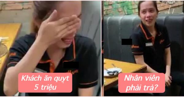 Nhà hàng buffet có nhân viên khóc vì khách ''ăn quỵt'' 5 triệu bị netizen công khai tin nhắn: ''Chi phí trừ vào lương mỗi tháng, không trừ một lần''