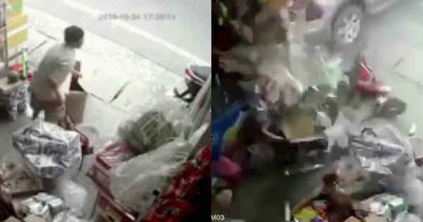 Khoảnh khắc kinh hoàng khi ô tô ''lao như tên bắn'' vào nhà dân, hất văng cả người phụ nữ ngồi trên xe máy đứng bên đường ở Quảng Ngãi