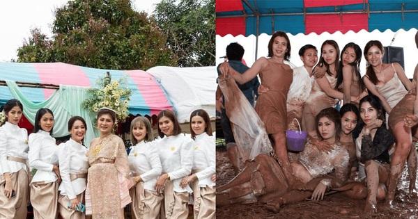 Ai cũng nên có hội bạn thân sẵn sàng lội bùn quẩy tung đám cưới mình như thế này