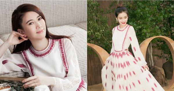 """Angela Baby cũng phải """"xin thua"""" Hoa hậu Hong Kong Viên Vịnh Nghi khi lệch gần 20 tuổi mà vẫn đẹp như tiên tử dù diện váy kín bưng"""