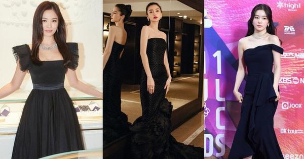 Không cần váy áo sặc sỡ sương sa hạt lựu, mỹ nhân Hoa - Hàn chỉ diện đầm đen huyền bí là đã đẹp không thốt nên lời