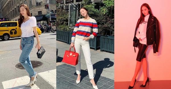 Kỹ năng chọn giày của Jessica Jung khiến ai nấy đều bái phục: Cao 1m6 mà nhìn không thua gì 1m7