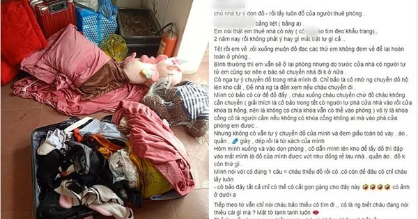 """Cô gái trẻ bóc phốt chủ nhà trọ tự ý """"dọn nhà"""" giúp, bao nhiêu đồ đạc giờ chỉ còn 1 vali đồ cũ, váy áo giày dép mới không cánh mà bay"""