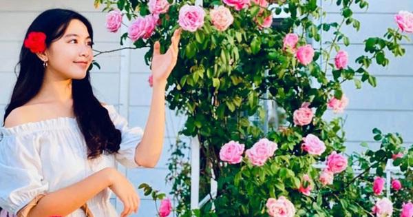 Khí chất ''hoa hậu tương lai'': Lọ Lem con gái MC Quyền Linh đứng trong vườn nhà chụp ảnh thôi mà cứ như photoshoot chuyên nghiệp