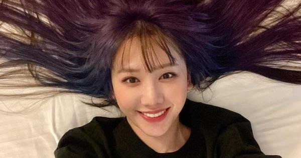 Hơn 30 tuổi, lần đầu tiên Hari Won chơi lớn đến mức nhuộm hẳn tóc tím ombre