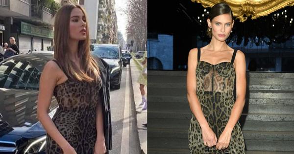 Pha đụng hàng ''tại trận'': Catriona Gray diện đầm y hệt siêu mẫu Ý tại show Dolce & Gabbana, người an toàn người ''chất chơi''