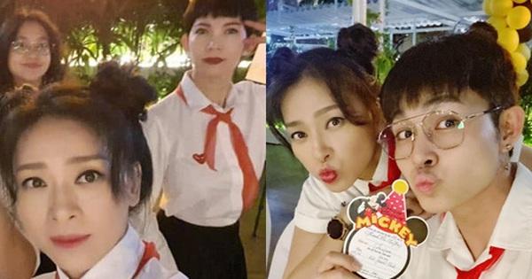 Mừng sinh nhật tuổi 41, Ngô Thanh Vân cùng hội bạn quyết trở về tuổi thơ bằng màn hoá trang thành học sinh cực lầy