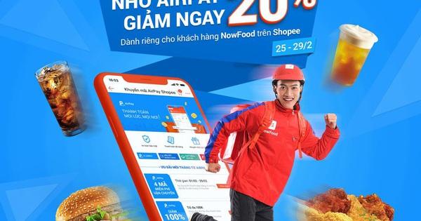 Ăn uống và nạp điện thoại thả ga, AirPay giảm giá 20% trên Shopee từ 25 - 29.02