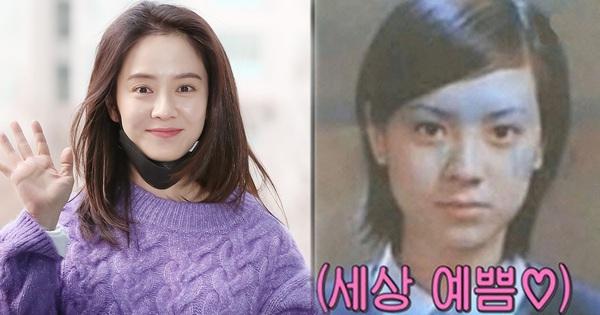 Ngó ảnh thời đi học của Song Ji Hyo mà giật mình: Lông mày xếch, tóc tỉa đúng style ''chị đại đầu gấu'', khác hẳn hình tượng hiền thục bây giờ