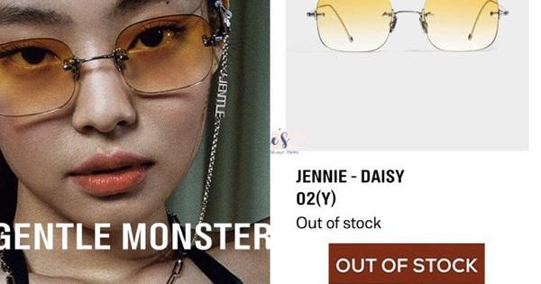 """BST kính Gentle Monster x Jennie vừa mở bán đã sold out chỉ trong 1 nốt nhạc, web hãng bị """"đánh sập"""""""