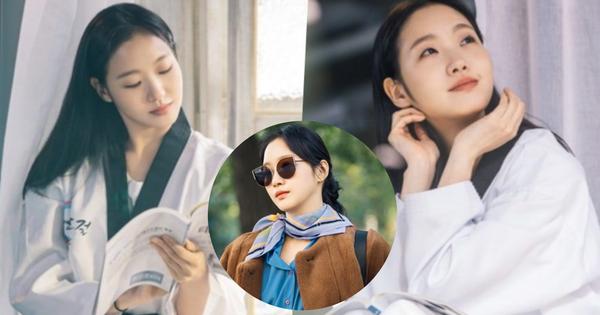 ''Người yêu Lee Min Ho'' tung ảnh cực sến ở Bệ Hạ Bất Tử: Cô cảnh sát sành điệu Kim Go Eun hoá ''bánh bèo bên hoa huệ''?