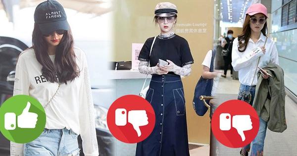 2 thái cực thời trang sân bay của sao Hoa ngữ: Người biến sân bay thành runway, người diện hàng hiệu như hàng chợ