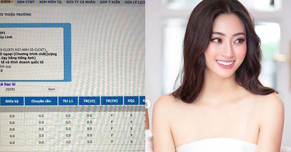 Hoa hậu IELTS 7.5 Lương Thùy Linh gây ngỡ ngàng vì tung bảng điểm toàn F, điểm chuyên cần bằng 0, sự thật là gì?
