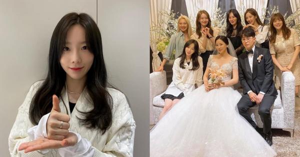 Taeyeon dẫn đầu dàn mỹ nhân SNSD dự đám cưới quản lí cũ: Thủ lĩnh gây sốt với visual mới, cả nhóm như mở concert hát lại 'Kissing You'