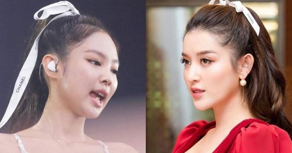Chỉ một sợi ruy băng Chanel: Jennie buộc tóc cực sang chảnh, Lan Ngọc - Huyền My thi nhau học theo nhưng hài nhất lại là Hari Won