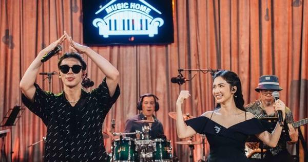 Hòa Minzy và Erik thân thiết trong buổi tổng duyệt Music Home cùng nhạc sĩ Huy Tuấn, sẽ có loạt những liên khúc song ca lần đầu được thể hiện?