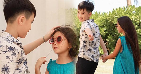 """Thu Trang tung loạt ảnh ''new couple"""" cực tình của quý tử và con gái Đoan Trang: Chờ gì mà không """"đẩy thuyền"""" nè cô chú ơi!"""