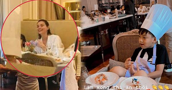 Đang bầu bí, Hà Hồ vẫn đưa con trai đi vui chơi cuối tuần: Nhan sắc mẹ bầu qua camera thường gây chú ý!