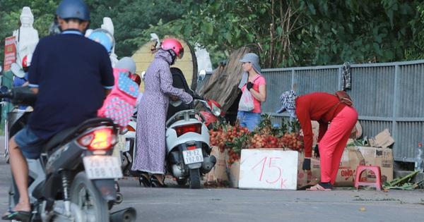 Ảnh: Hoa quả với giá rẻ giật mình ''đổ bộ'' khắp vỉa hè Hà Nội