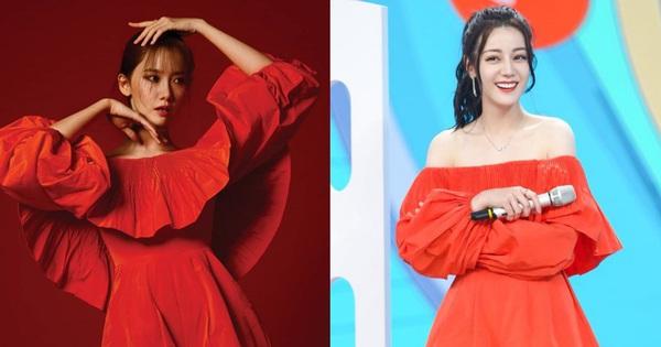 Nhờ tạo dáng hay ho mà Yoona khoe được nét sexy mặn mà tuổi 30, đối lập hẳn với vẻ ngọt ngào của Địch Lệ Nhiệt Ba