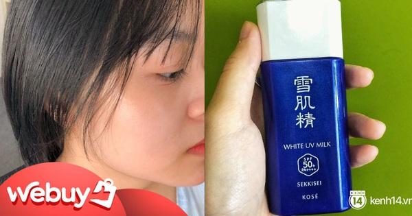 Kem chống nắng Nhật ''hot hit'' với chất kem tàng hình trên da, nhẹ bẫng như không, team ghét kem nâng tông ắt sẽ ''kết''