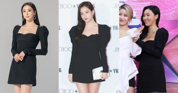 Cùng 1 chiếc váy, Jisoo khéo sửa để che chắn vòng 1 nhưng lại thua Lee Da Hee vì đôi chân cực phẩm không cần photoshop