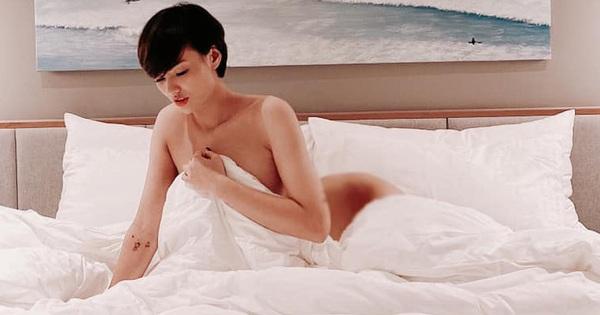 """Hồng Quế """"chơi lớn"""" tung ảnh bán nude táo bạo, gây bất ngờ khi tiết lộ người chụp là... mẹ"""