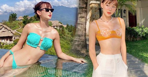 Nâng cấp vòng 1 xem ra là quyết định đúng đắn của Sun Ht vì nhờ thế mà cô nàng ăn diện ''bốc'' hơn hẳn