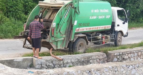 Xe dán tên công ty môi trường đổ trộm chất thải ở ''đảo ngọc'' Cô Tô