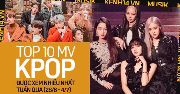 10 MV Kpop được xem nhiều nhất tuần: BLACKPINK quay trở lại cực gắt với 4 MV; BTS, SEVENTEEN giữ vững phong độ còn PSY bất ngờ rớt top