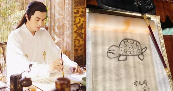 Cười mệt với hậu trường cảnh viết thư pháp của dàn sao Cbiz: ''Trùm vẽ bậy'' gọi tên Lâm Canh Tân!