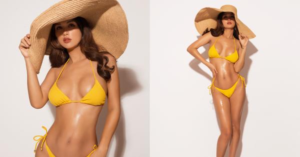 Oanh Yến tự tin diện bikini khoe body bốc lửa, nhìn hình có ai nghĩ nàng Hậu đã trải qua 6 lần sinh nở?