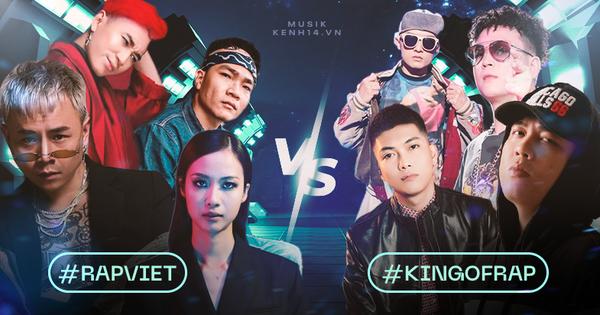 Rap Việt và King Of Rap đối đầu gay gắt ngay từ dàn HLV, hội tụ những nhân vật ''máu mặt'' nhất của cộng đồng Hiphop tại Việt Nam