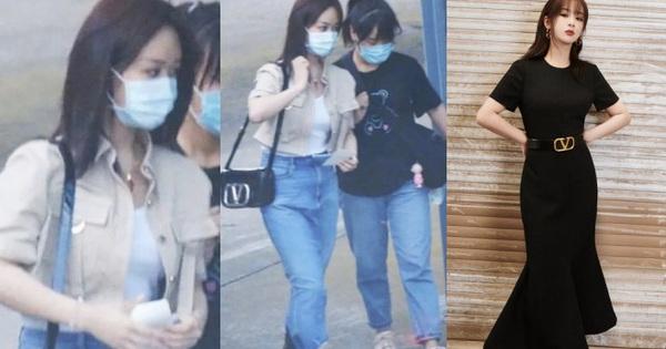 """Ảnh sân bay không PTS của Dương Tử bị """"bóc trần"""": Lộ khuyết điểm body, khác xa hình chỉnh sửa kỹ càng"""
