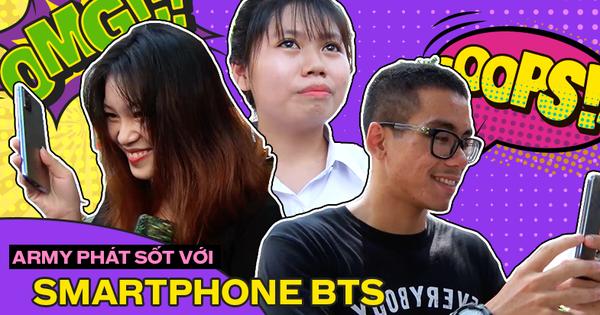 Giới trẻ phản ứng thế nào khi được trải nghiệm smartphone phiên bản BTS?