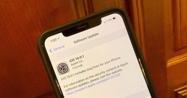 Apple phát hành iOS 14.0.1: Sửa lỗi widget và cài đặt ứng dụng mặc định