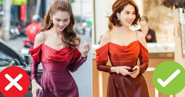 Nhìn sự cách biệt ''váy hiệu – váy chợ'' của Ngọc Trinh mới thấy photoshop có tác dụng thần kỳ thế nào