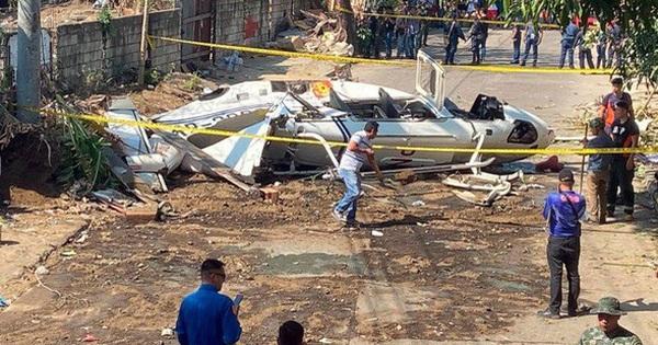 Máy bay chở cảnh sát trưởng Philippines rơi vì lao trúng dây điện